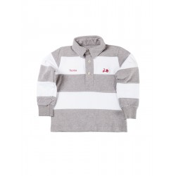 POLO RUGBY STRIPES GRIS