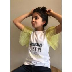 Camiseta Infantil Volante...